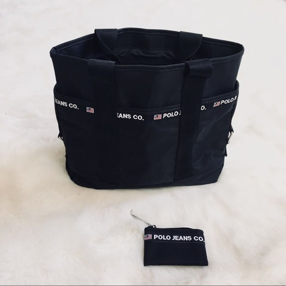 16d7d42f4b6 Rare polo jeans co vintage bag. M 5ade66a250687cf0c7fb8727